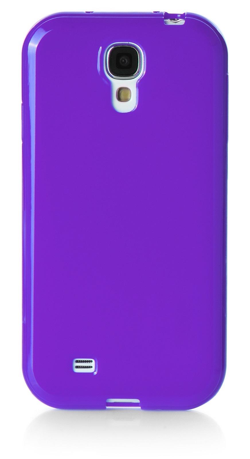 Чехол для сотового телефона iNeez накладка силикон мыльница 480081 для Samsung Galaxy S4 mini, фиолетовый