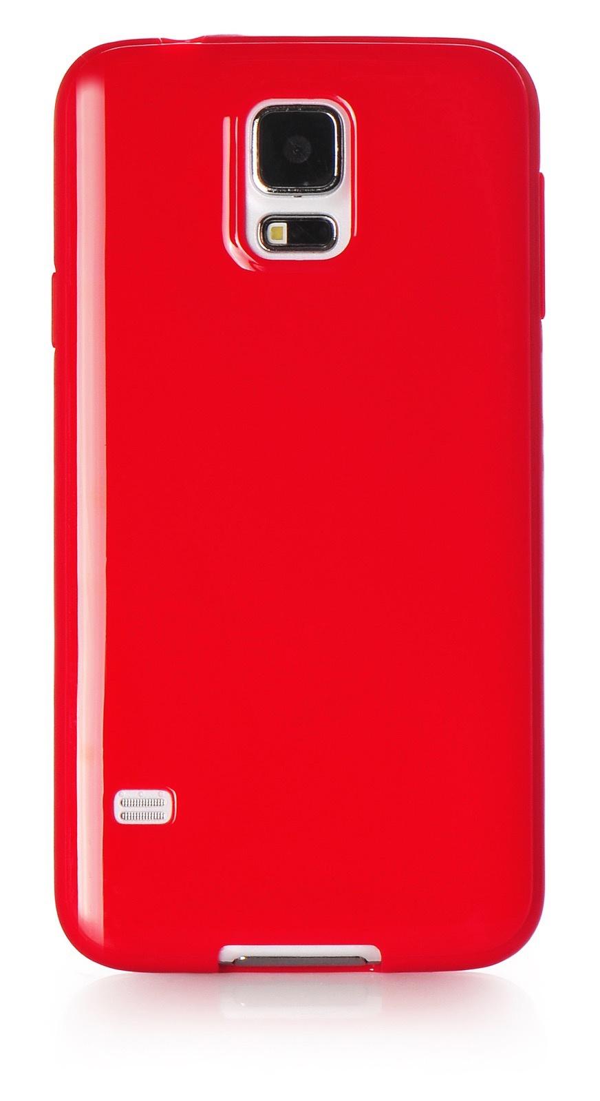 Чехол для сотового телефона iNeez накладка силикон мыльница 530091 для Samsung Galaxy S5, красный