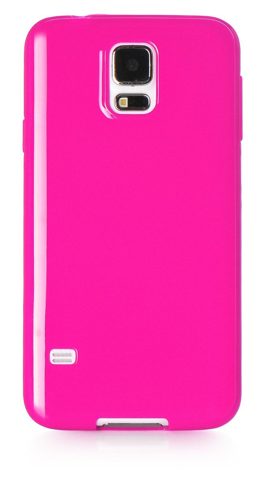 Чехол для сотового телефона iNeez накладка силикон мыльница 530096 для Samsung Galaxy S5, темно-розовый