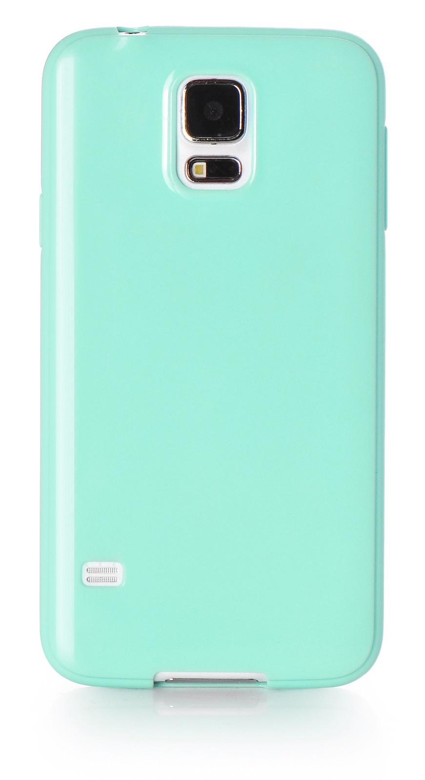 Чехол для сотового телефона iNeez накладка силикон мыльница 530089 для Samsung Galaxy S5, светло-зеленый