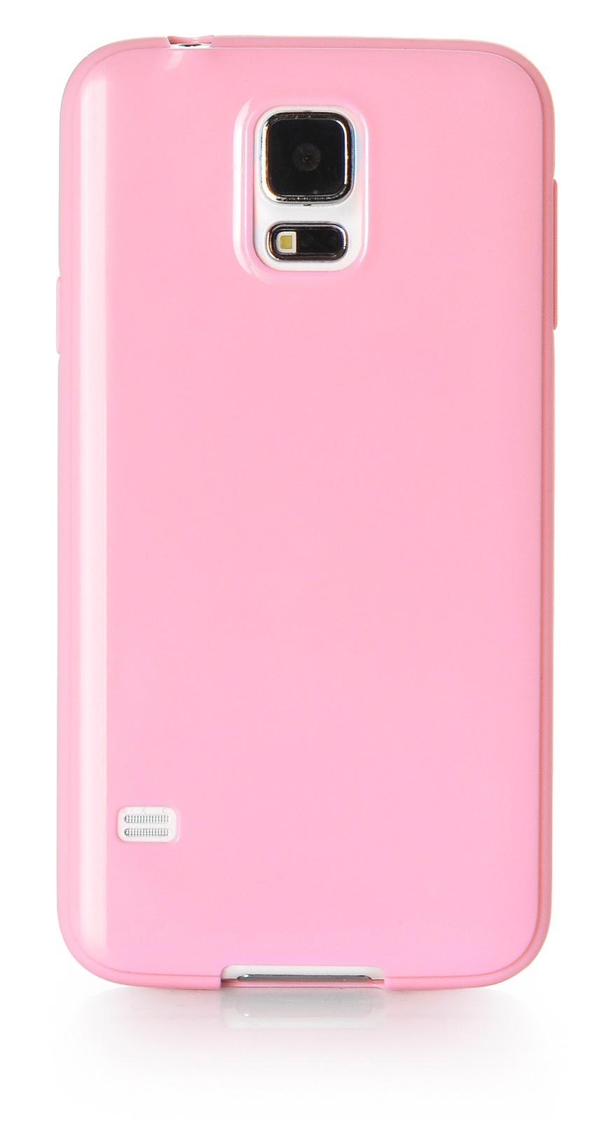 Чехол для сотового телефона iNeez накладка силикон мыльница 530086 для Samsung Galaxy S5, розовый