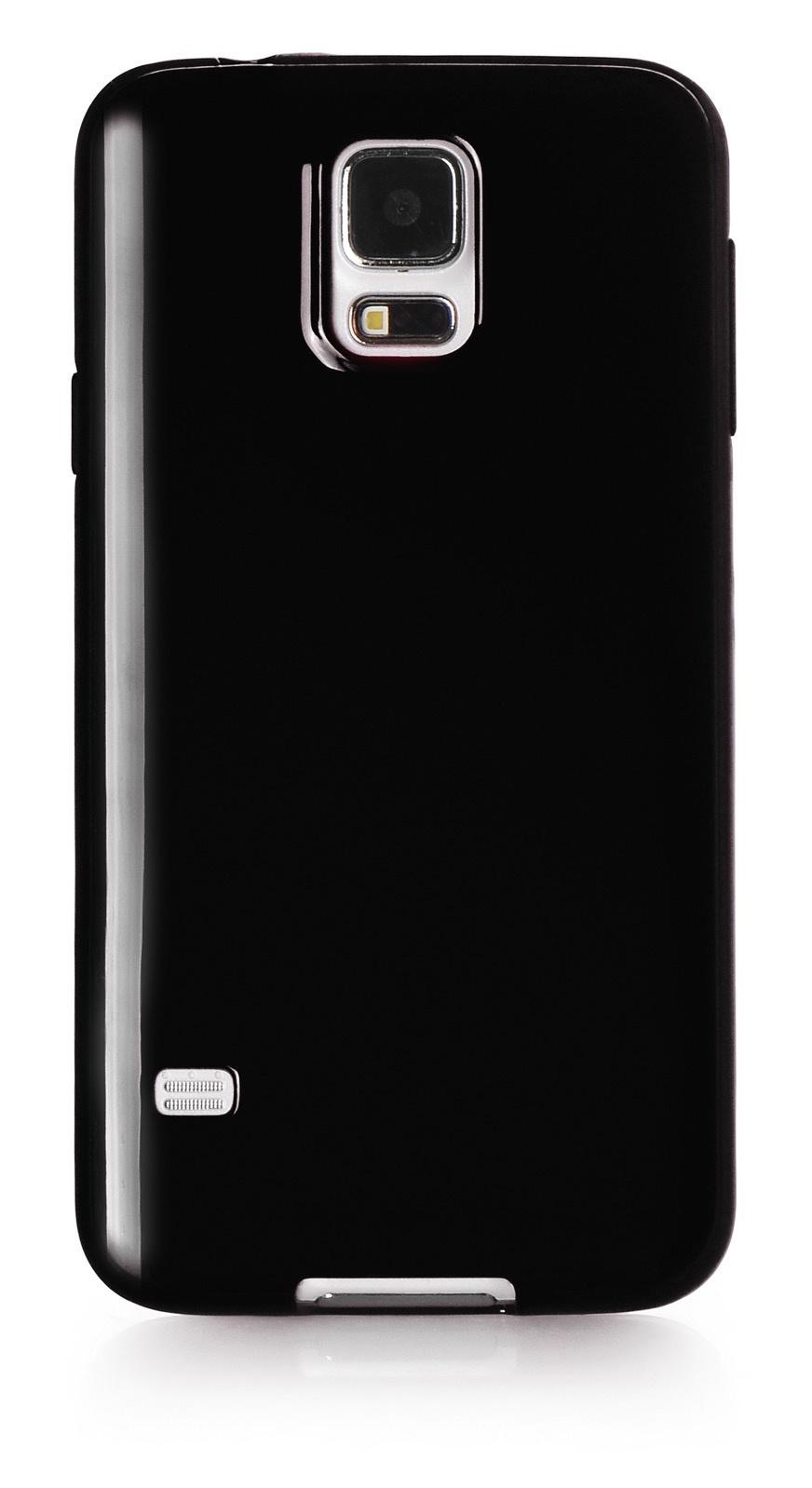 Чехол для сотового телефона iNeez накладка силикон мыльница 530080 для Samsung Galaxy S5, черный