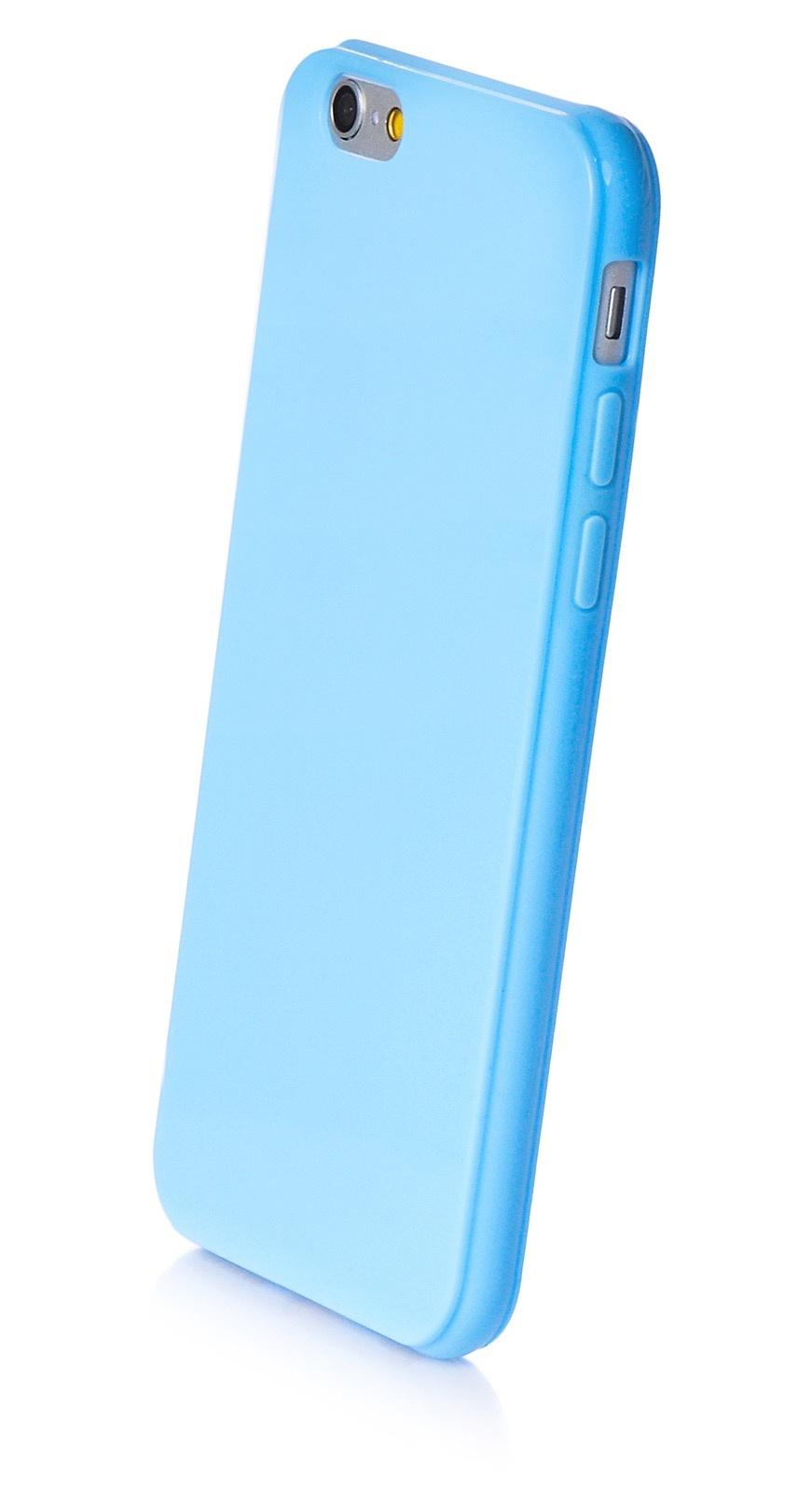 """Чехол для сотового телефона iNeez накладка силикон мыльница 580132 для Apple Iphone 6/6S 4.7"""", голубой"""