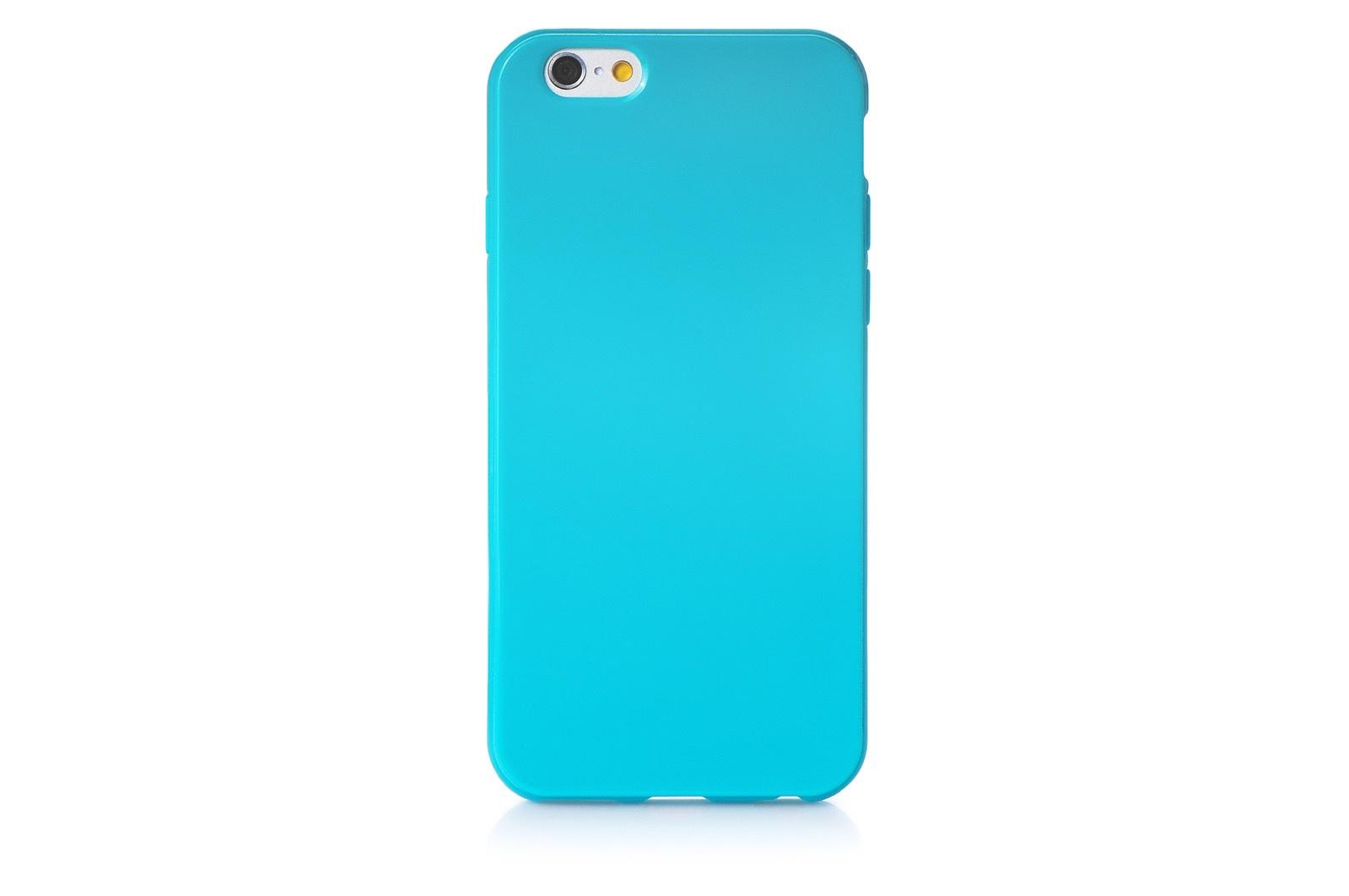 """Чехол для сотового телефона iNeez накладка силикон мыльница 620214 для Apple Iphone 6 Plus/6S Plus 5.5"""", бирюзовый"""
