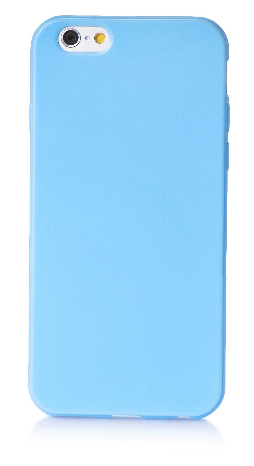 """Чехол для сотового телефона iNeez накладка силикон мыльница 620212 для Apple Iphone 6 Plus/6S Plus 5.5"""", голубой"""