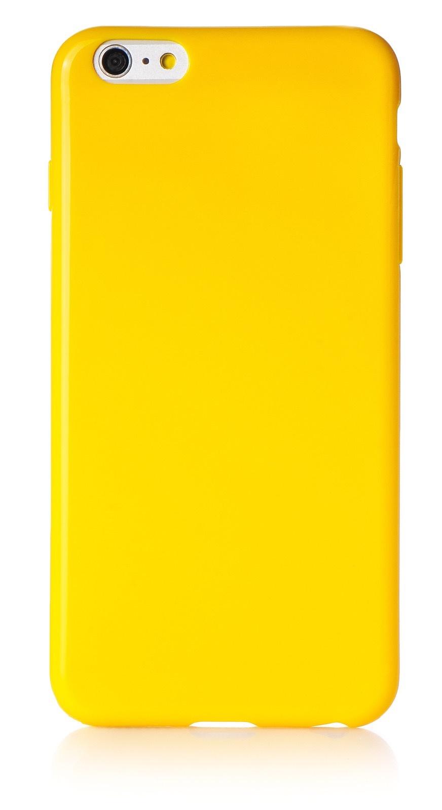 """Чехол для сотового телефона iNeez накладка силикон мыльница 620116 для Apple Iphone 6 Plus/6S Plus 5.5"""", желтый"""