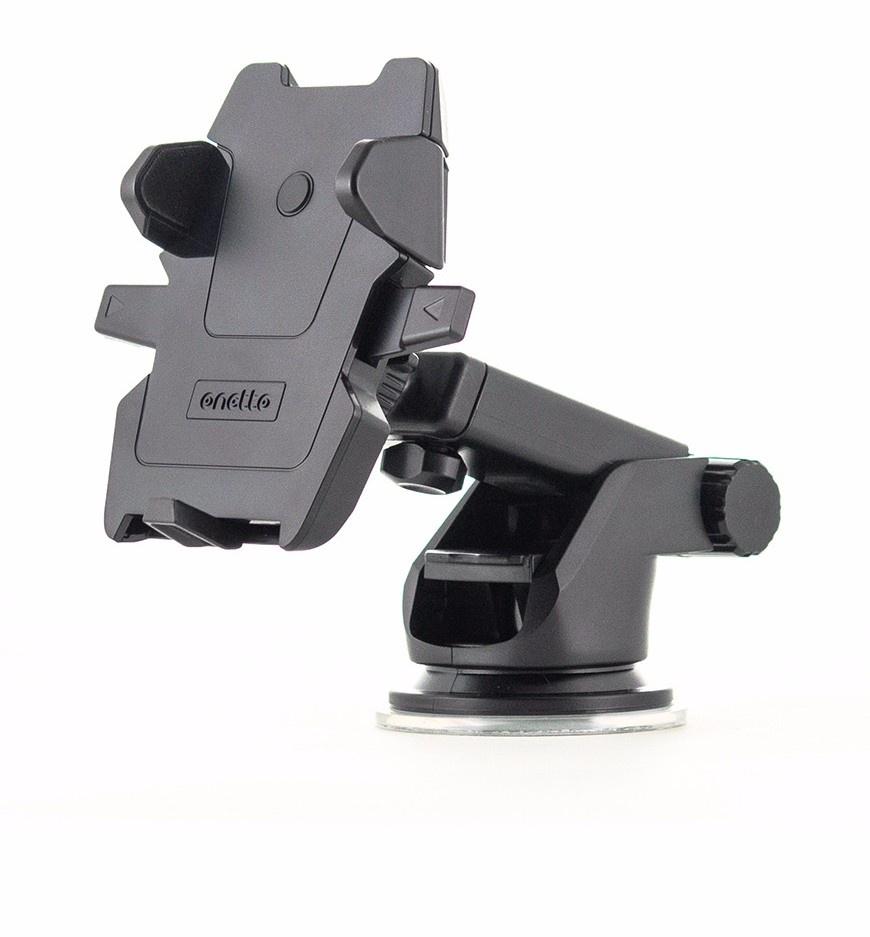 Автомобильный держатель ONETTO Mount Easy One Touch 2, черный автомобильный держатель onetto one touch mini telescopic черный