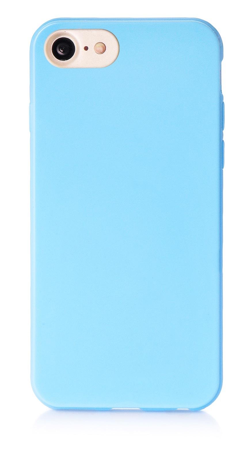 """Чехол для сотового телефона iNeez накладка силикон мыльница 900833 для Apple Iphone 7/8 4.7"""", голубой"""