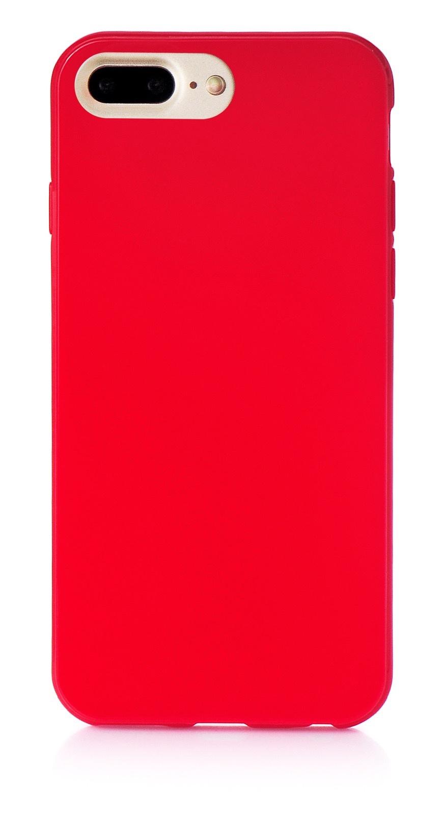 """Чехол для сотового телефона iNeez накладка силикон мыльница 901418 для Apple Iphone 7 Plus/8 Plus 5.5"""", красный"""