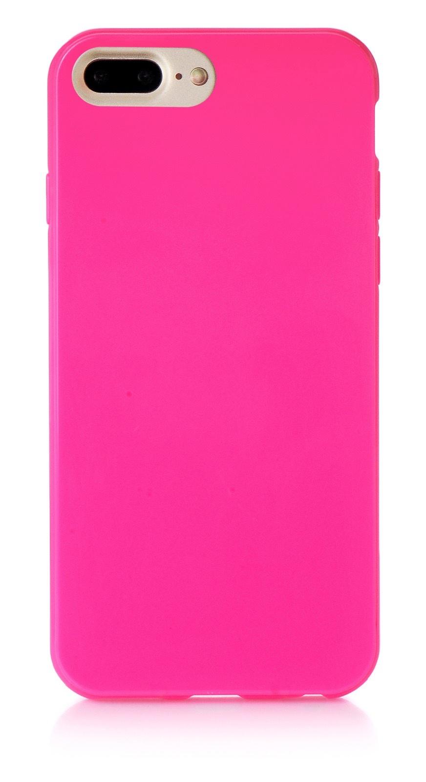 """Чехол для сотового телефона iNeez накладка силикон мыльница 901419 для Apple Iphone 7 Plus/8 Plus 5.5"""", темно-розовый"""