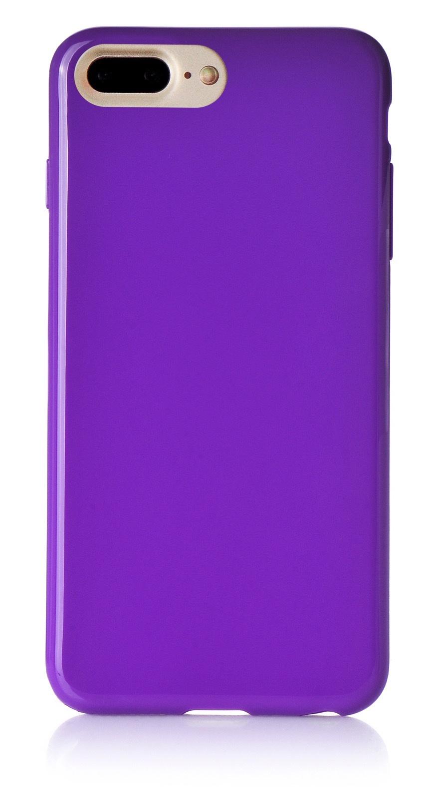 """Чехол для сотового телефона iNeez накладка силикон мыльница 901417 для Apple Iphone 7 Plus/8 Plus 5.5"""", фиолетовый"""