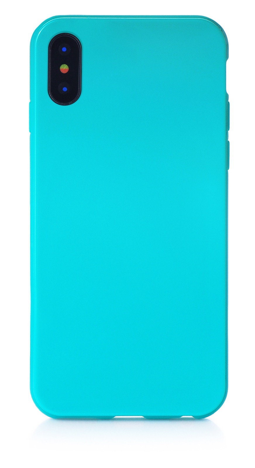 """Чехол для сотового телефона iNeez накладка силикон мыльница 905035 для Apple Iphone X/XS 5.8"""", бирюзовый"""
