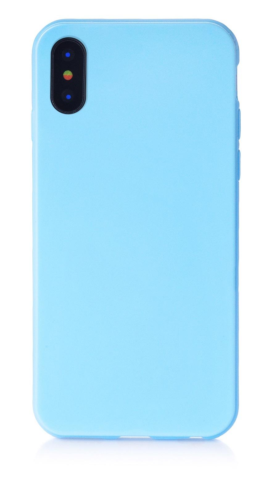 """Чехол для сотового телефона iNeez накладка силикон мыльница 905040 для Apple Iphone X/XS 5.8"""", голубой"""