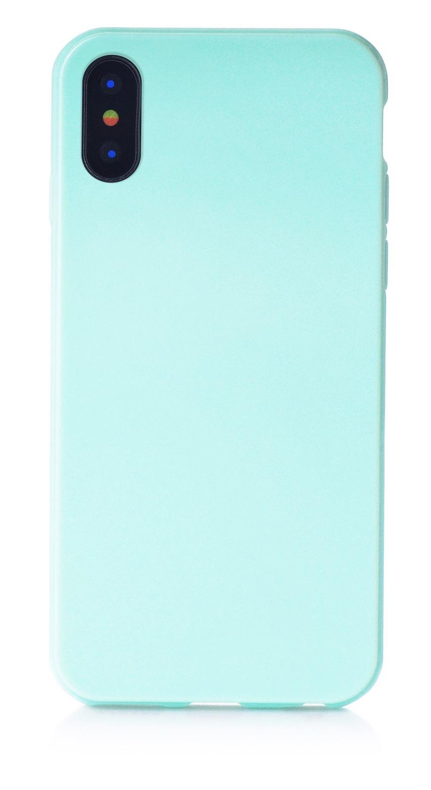 """Чехол для сотового телефона iNeez накладка силикон мыльница 905039 для Apple Iphone X/XS 5.8"""", светло-зеленый"""