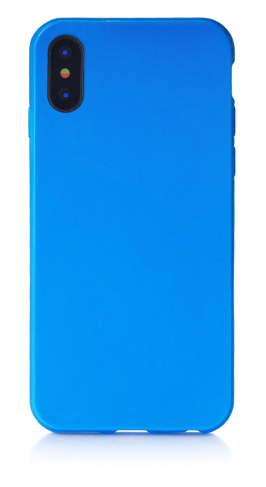 "Чехол для сотового телефона iNeez накладка силикон мыльница 905041 для Apple Iphone X/XS 5.8"", синий"