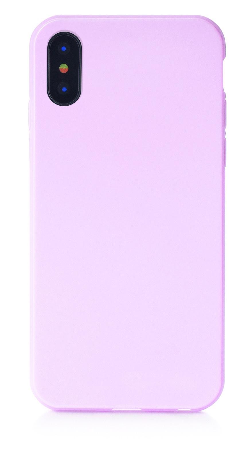 """Чехол для сотового телефона iNeez накладка силикон мыльница 905037 для Apple Iphone X/XS 5.8"""", сиреневый"""
