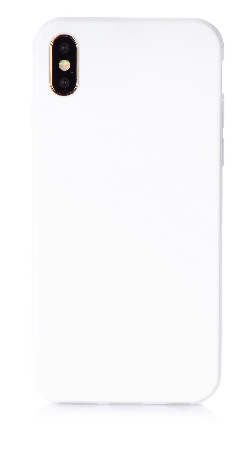 """Чехол для сотового телефона iNeez накладка силикон мыльница 907272 для Apple Iphone XS Max 6.5"""", белый"""
