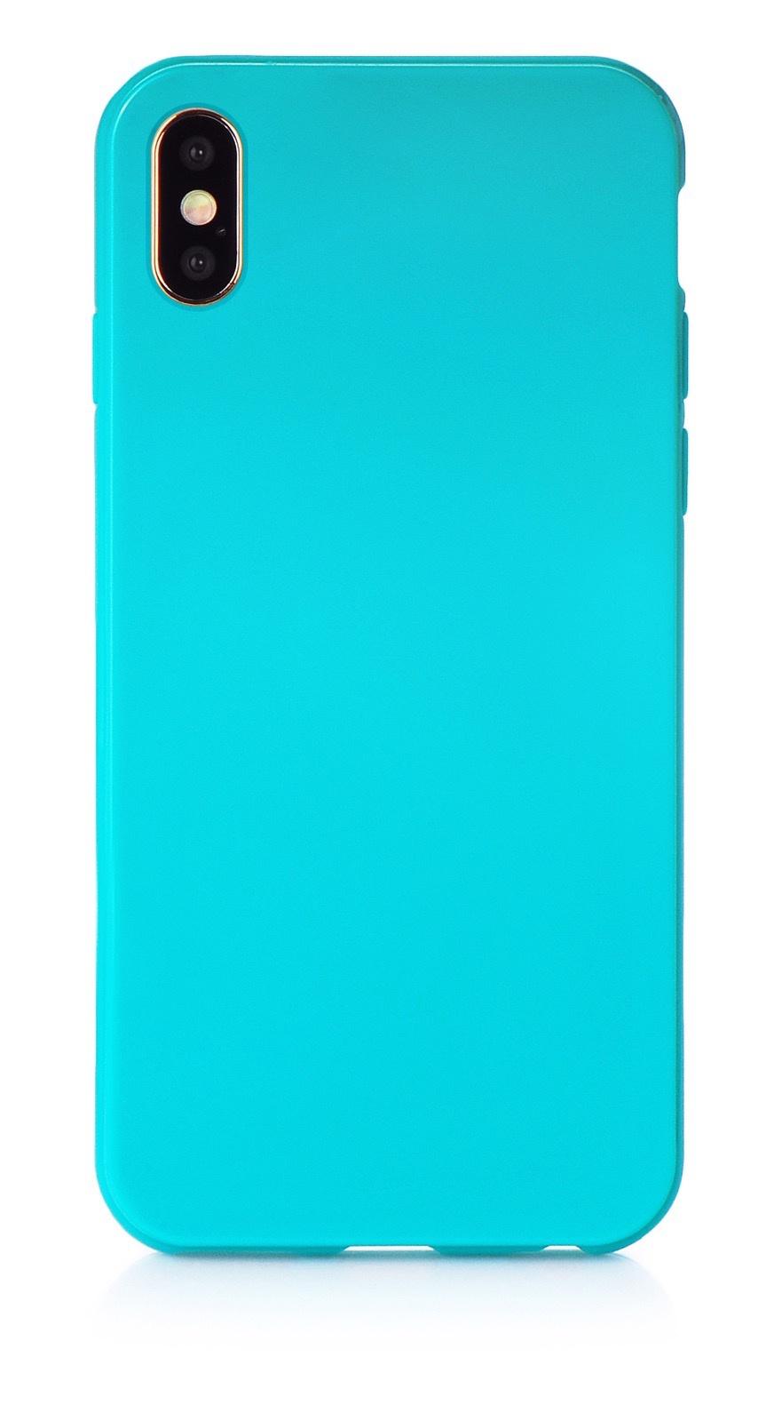 """Чехол для сотового телефона iNeez накладка силикон мыльница 907279 для Apple Iphone XS Max 6.5"""", бирюзовый"""