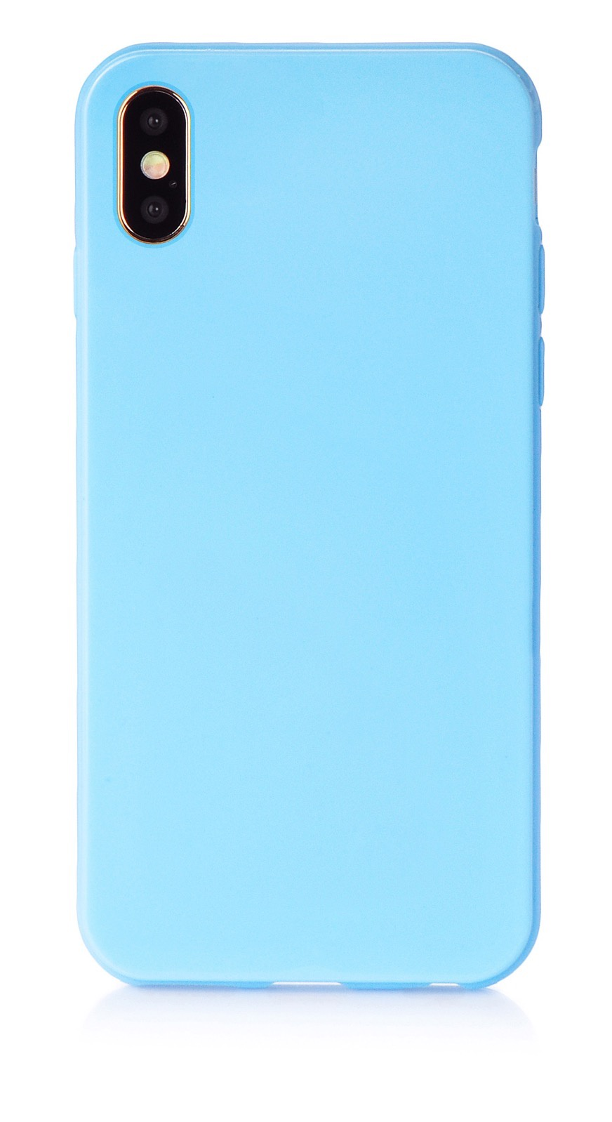 """Чехол для сотового телефона iNeez накладка силикон мыльница 907281 для Apple Iphone XS Max 6.5"""", голубой"""