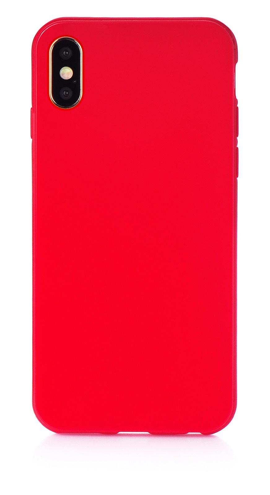 """Чехол для сотового телефона iNeez накладка силикон мыльница 907276 для Apple Iphone XS Max 6.5"""", красный"""