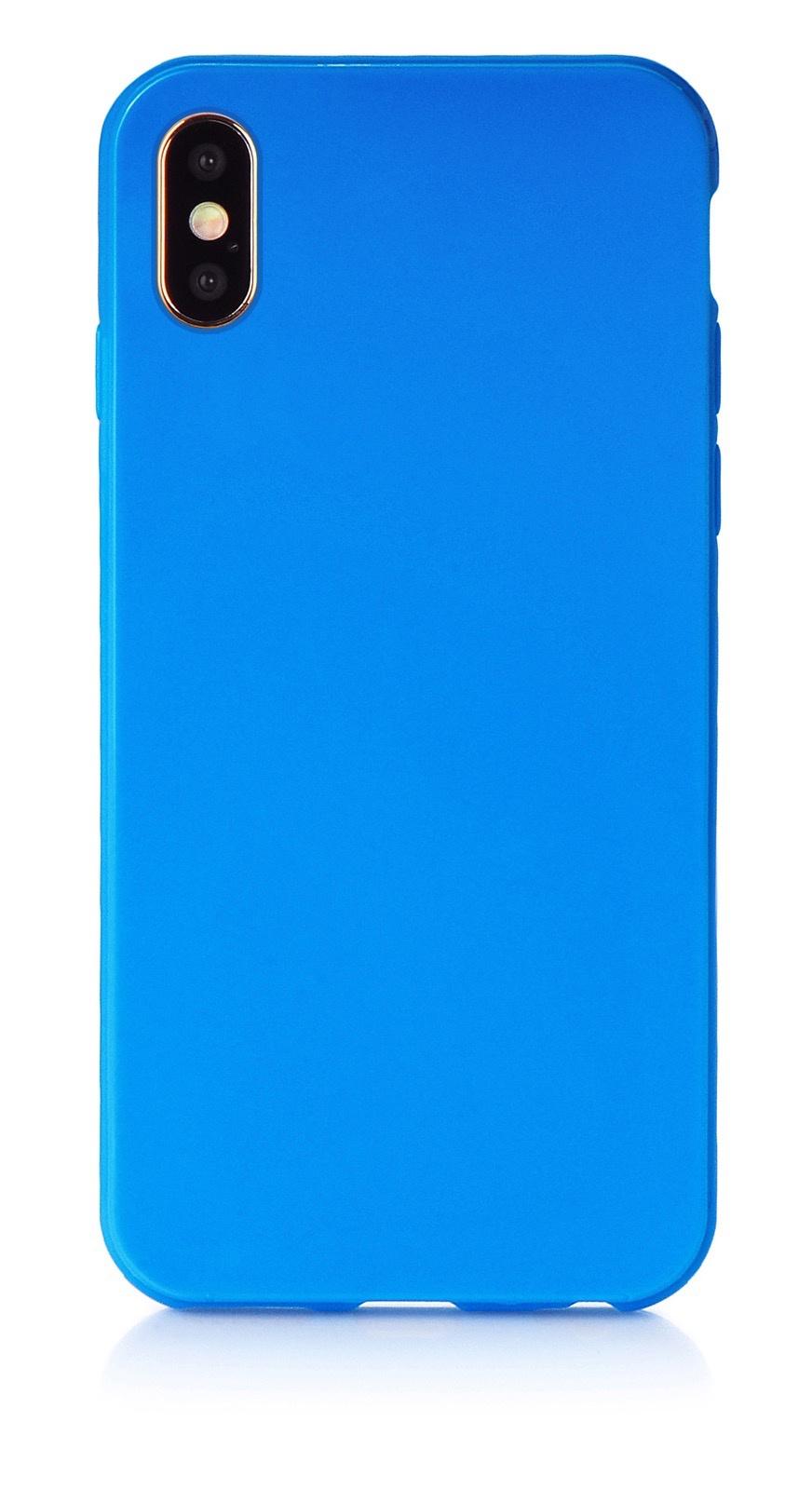 "Чехол для сотового телефона iNeez накладка силикон мыльница 907282 для Apple Iphone XS Max 6.5"", синий"