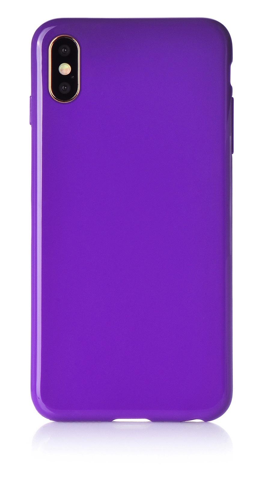 """Чехол для сотового телефона iNeez накладка силикон мыльница 907278 для Apple Iphone XS Max 6.5"""", фиолетовый"""
