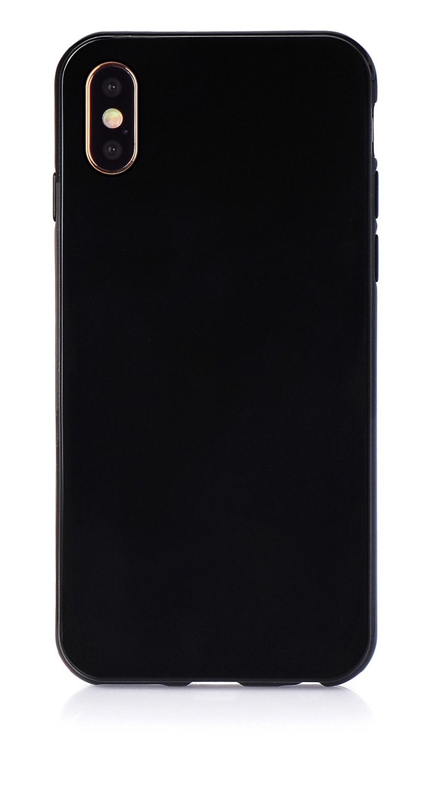"""Чехол для сотового телефона iNeez накладка силикон мыльница 907283 для Apple Iphone XS Max 6.5"""", черный"""