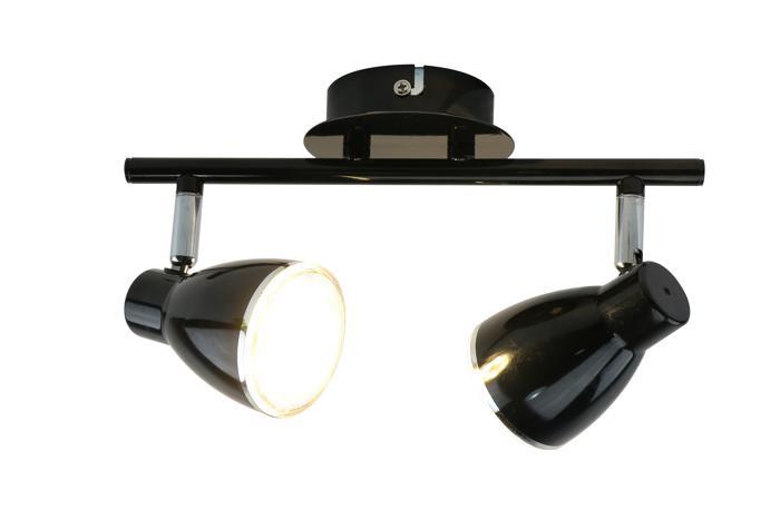 Настенно-потолочный светильник Arte Lamp A6008PL-2BK, черный цена 2017