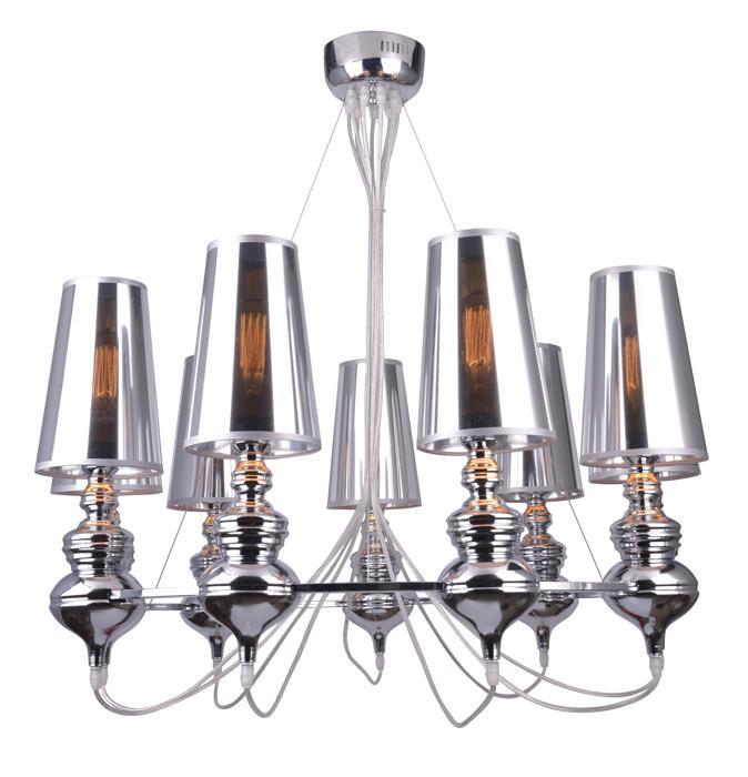Подвесной светильник Arte Lamp A4280LM-9CC, серый металлик цена