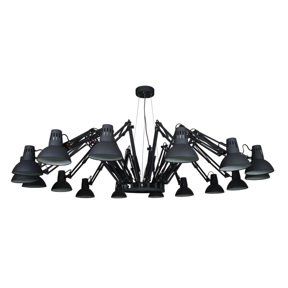 Фото - Подвесной светильник Arte Lamp A2043SP-16BK, черный светильник подвесной arte lamp ragno цвет белый 16 х e27 40 w a2043sp 16wh