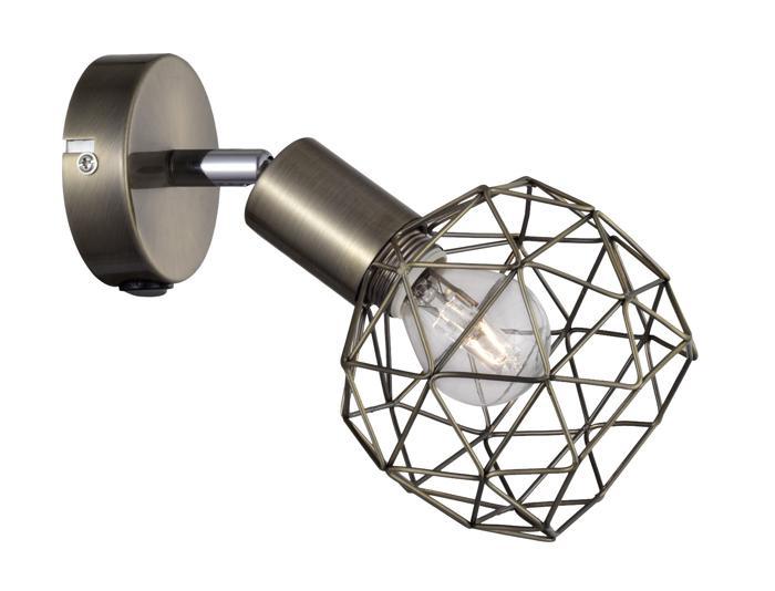 Настенно-потолочный светильник Arte Lamp A6141AP-1AB, E14, 40 Вт