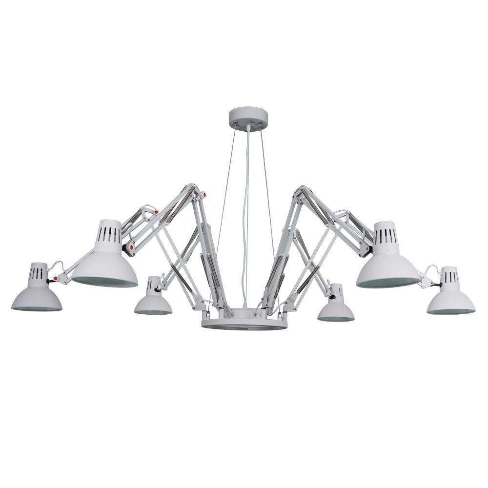 Фото - Подвесной светильник Arte Lamp A2043SP-6WH, белый светильник подвесной arte lamp ragno цвет белый 16 х e27 40 w a2043sp 16wh