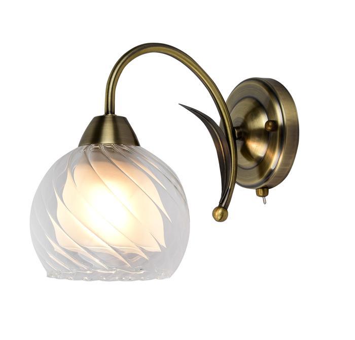 Бра Arte Lamp A1607AP-1AB, E27, 60 Вт светильник настенный arte lamp a1607ap 1ab