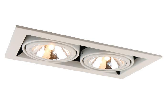все цены на Встраиваемый светильник Arte Lamp A5949PL-2WH, G9, 40 Вт онлайн
