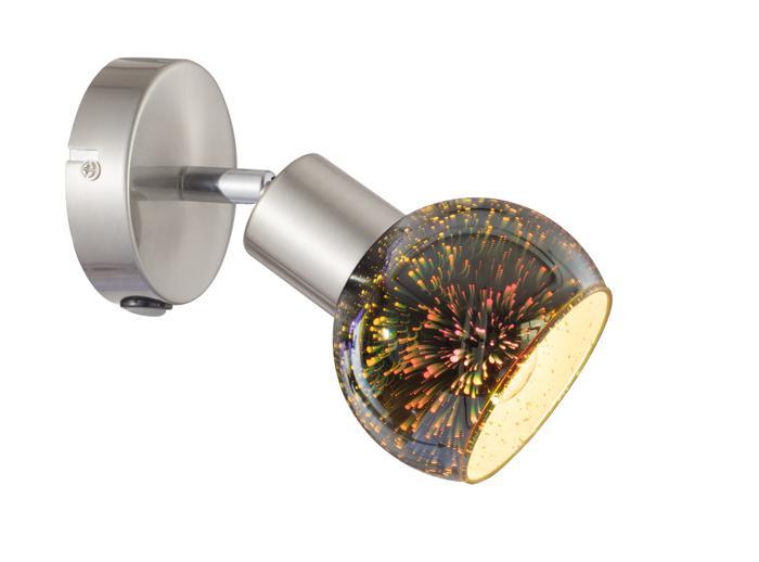 Настенно-потолочный светильник Arte Lamp A6125AP-1SS, E14, 40 Вт