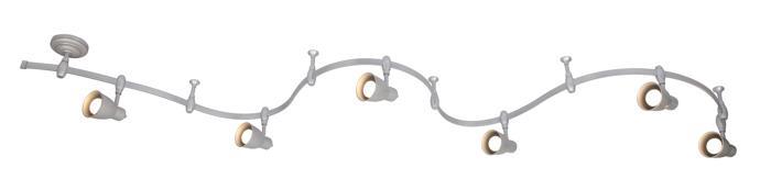 Настенно-потолочный светильник Arte Lamp A3058PL-6SI, E14, 40 Вт