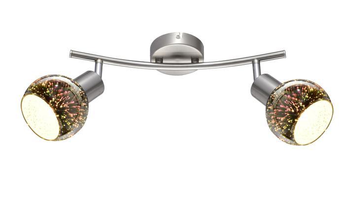 Настенно-потолочный светильник Arte Lamp A6125AP-2SS, E14, 40 Вт