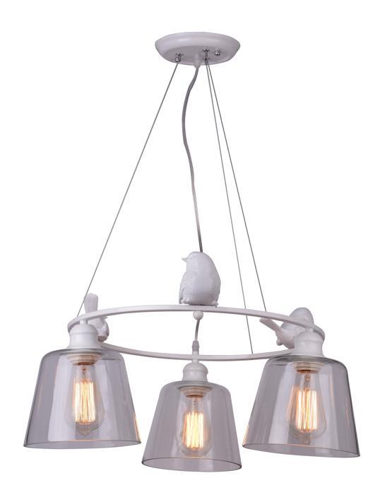 Подвесной светильник Arte Lamp A4289LM-3WH, белый цена