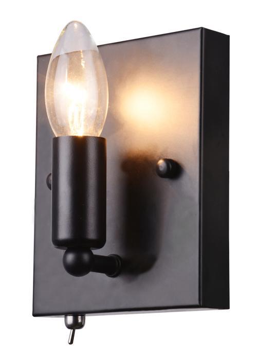 Бра Arte Lamp A8811AP-1BK, E14, 40 Вт