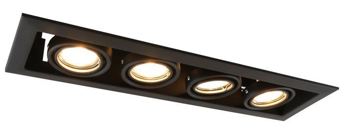Встраиваемый светильник Arte Lamp A5941PL-4BK, черный arte lamp a4402pl 4bk