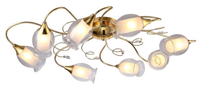 Потолочный светильник Arte Lamp A9289PL-8GO, золотой потолочная люстра artelamp a4552pl 8go