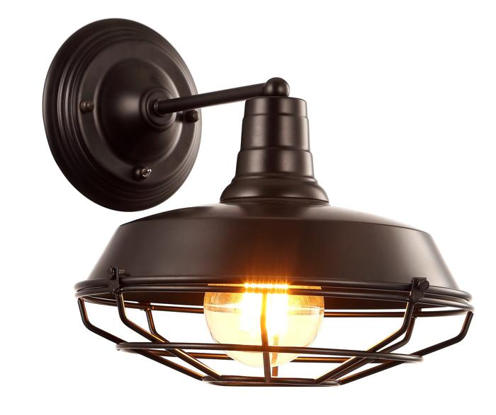 Бра Arte Lamp A9183AP-1BK, E27, 40 Вт