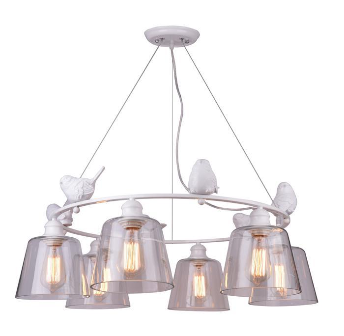 Подвесной светильник Arte Lamp A4289LM-6WH, белый цена
