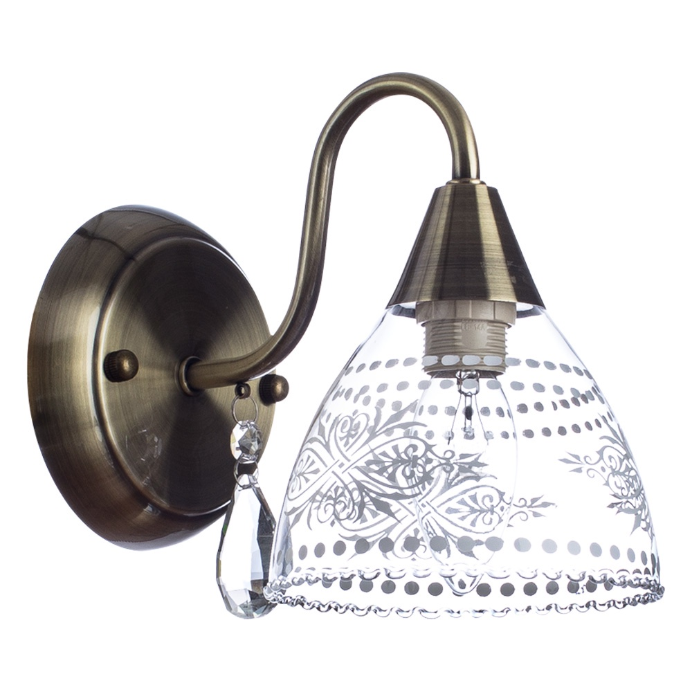 Бра Arte Lamp A1658AP-1AB, E14, 60 Вт