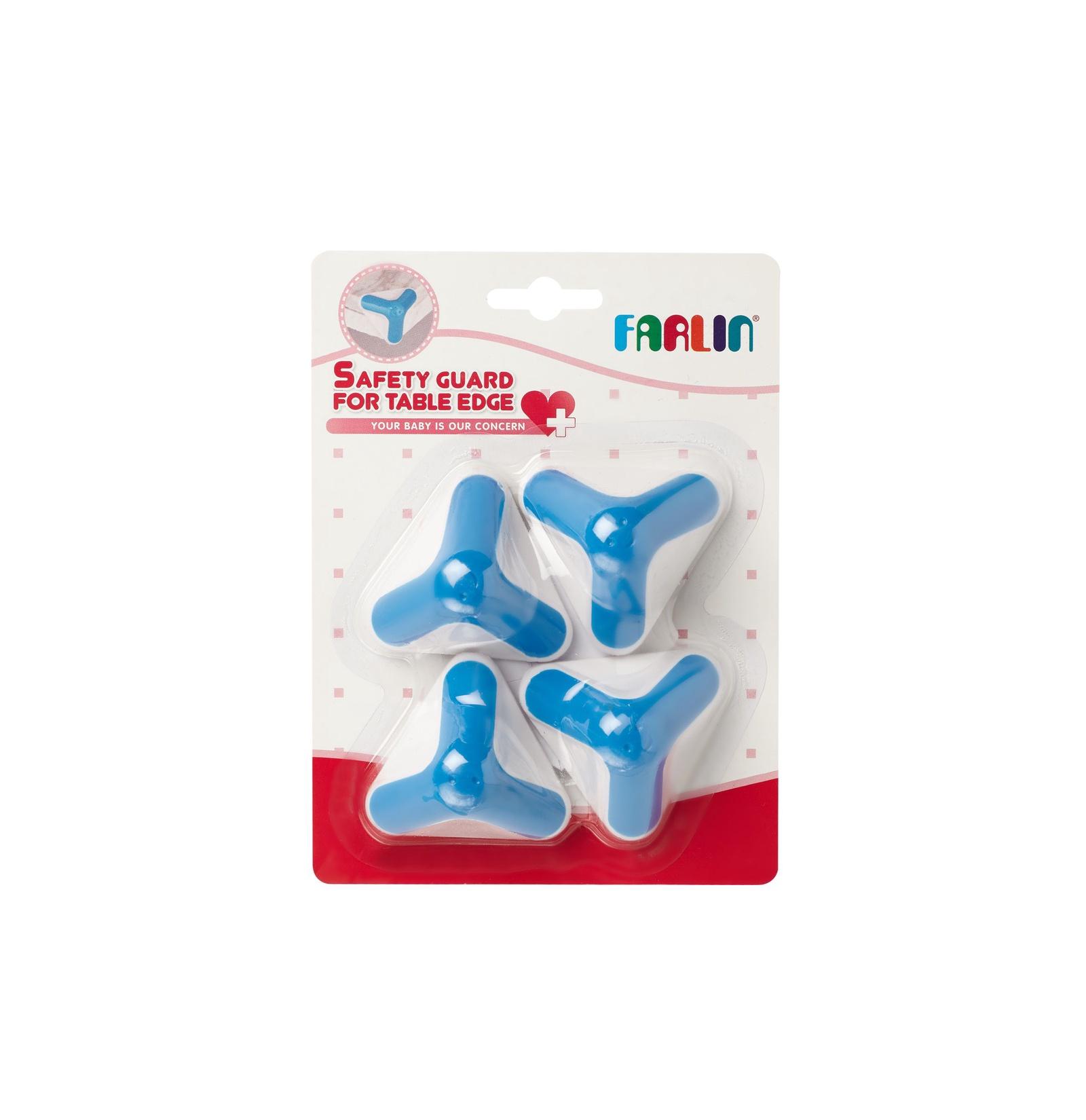 Защитный уголок Farlin 4 штуки, белый, голубой