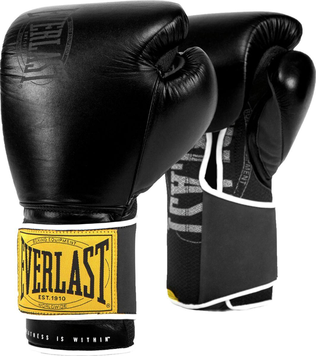 Перчатки тренировочные Everlast 1910 Classic, черный, 12 oz