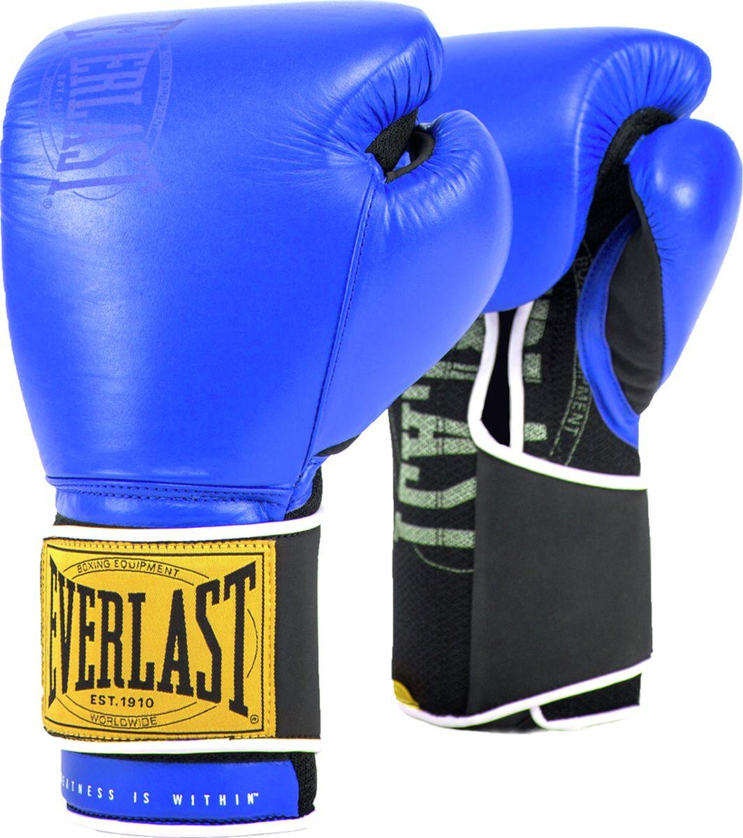 Перчатки тренировочные Everlast 1910 Classic, синий, 14 oz