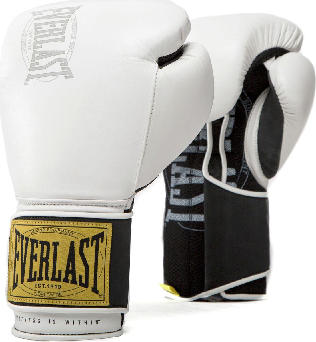 Перчатки тренировочные Everlast 1910 Classic, белый, 12 oz