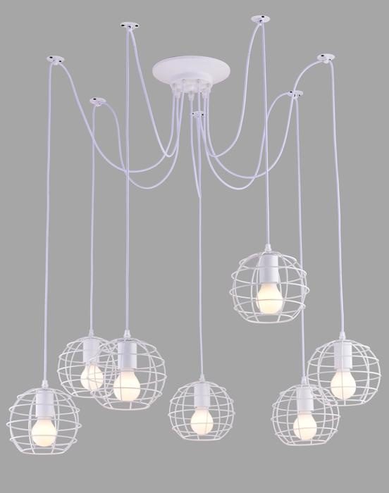 Подвесной светильник Arte Lamp A1110SP-7WH, белый arte lamp подвесной светильник arte lamp spider a1110sp 1wh