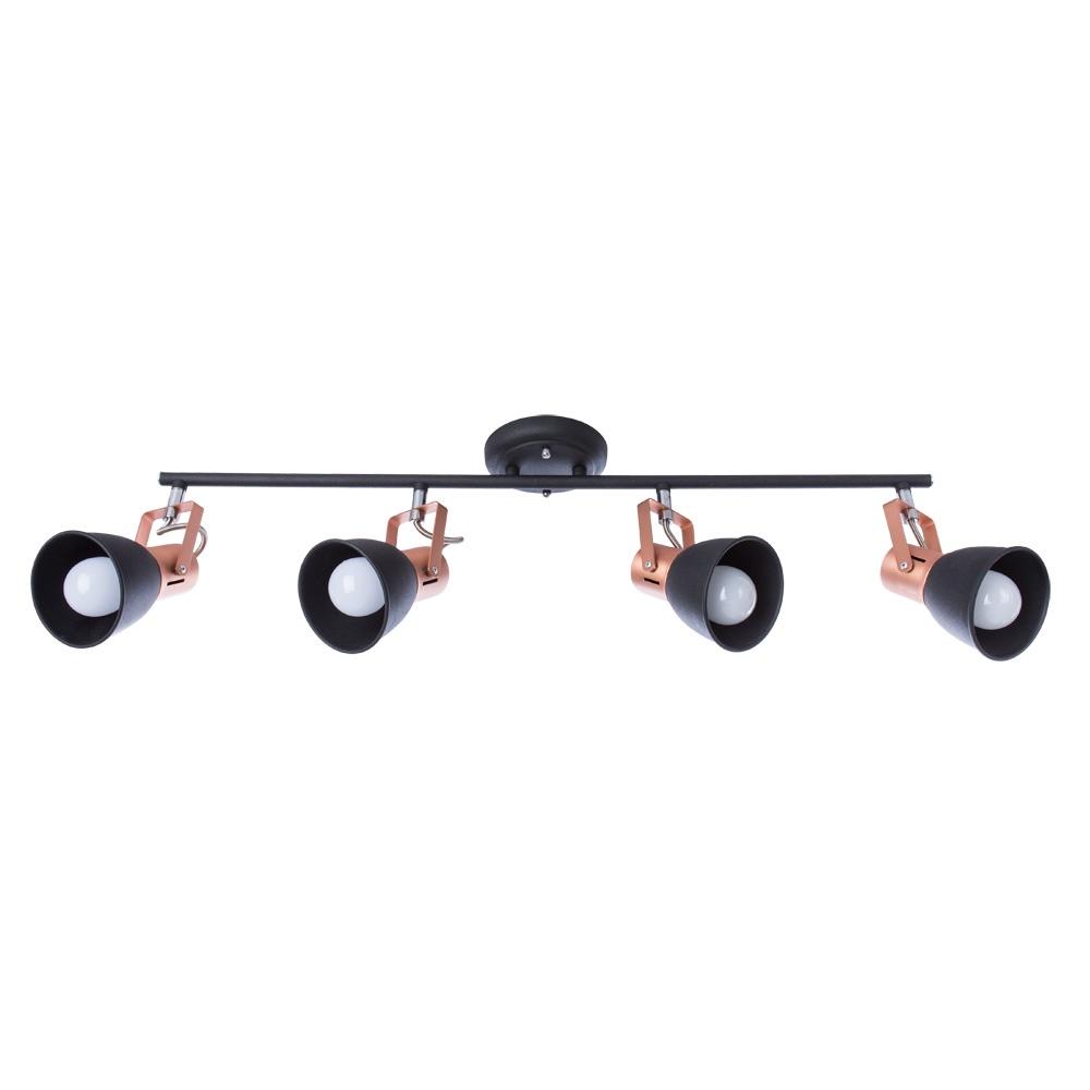 Настенно-потолочный светильник Arte Lamp A1677PL-4BK, E14, 40 Вт